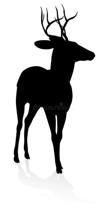 Силуэт животного оленей иллюстрация штока