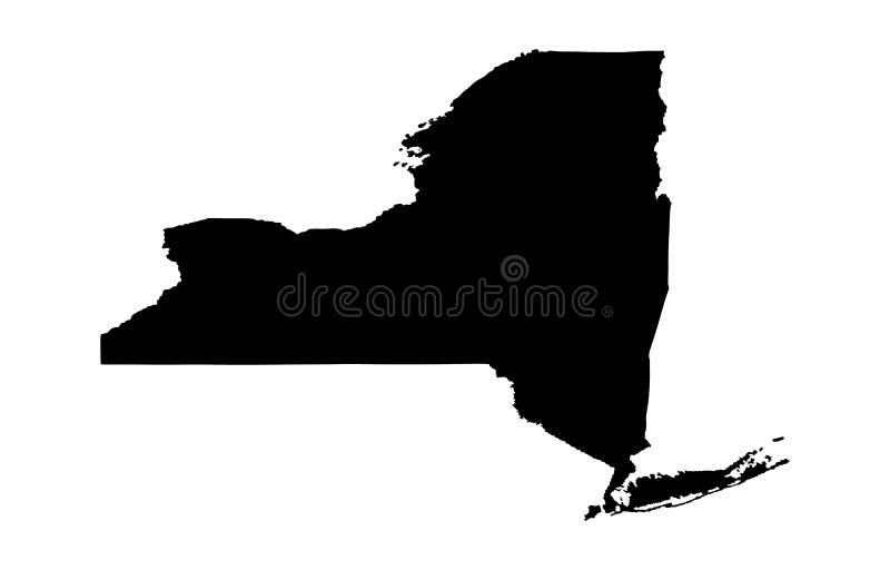 Силуэт карты Нью-Йорка бесплатная иллюстрация