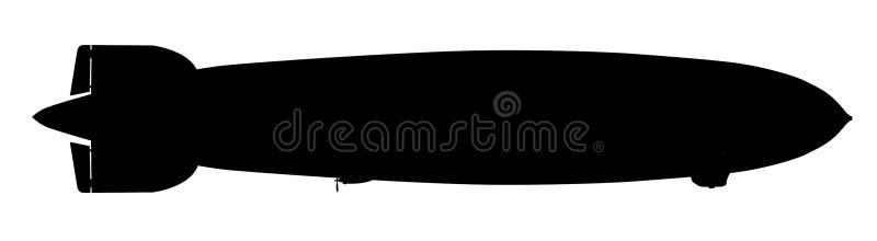 Силуэт корабля воздуха над белизной бесплатная иллюстрация