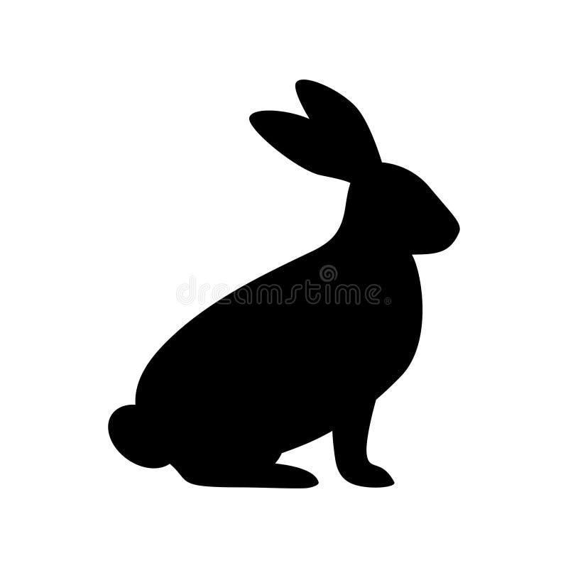 Силуэт кролика в векторе иллюстрация вектора