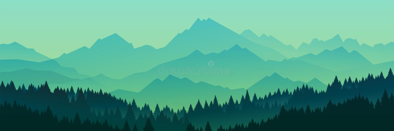 Силуэт леса, иллюстрация вектора иллюстрация вектора