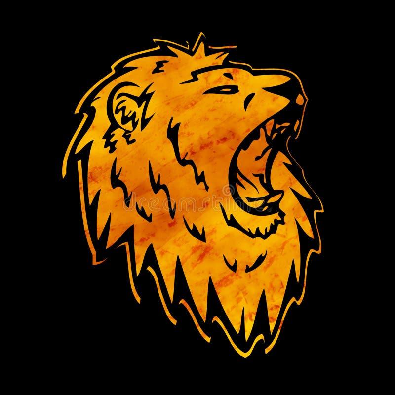 Силуэт льва иллюстрация вектора