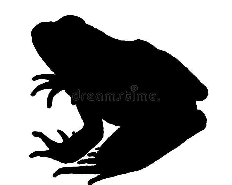 силуэт лягушки иллюстрация штока