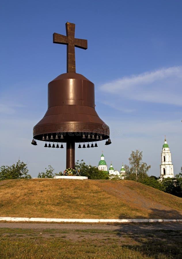силуэт металла колоколов перекрестный стоковое изображение rf
