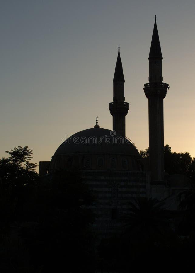силуэт мусульманства стоковое изображение