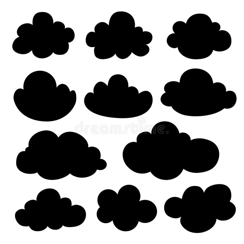 Силуэт облака иллюстрация штока