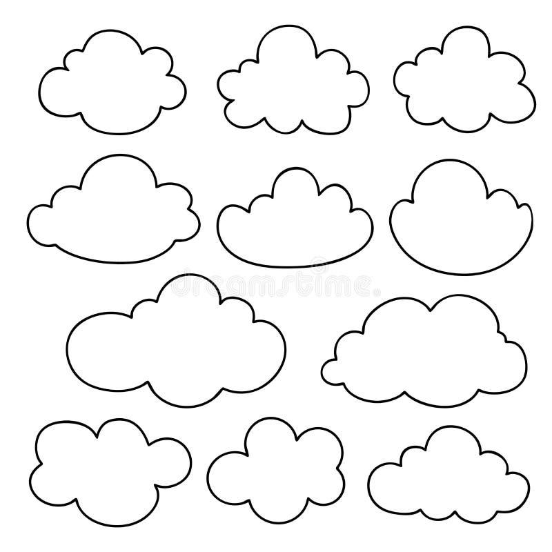 Силуэт облака иллюстрация вектора