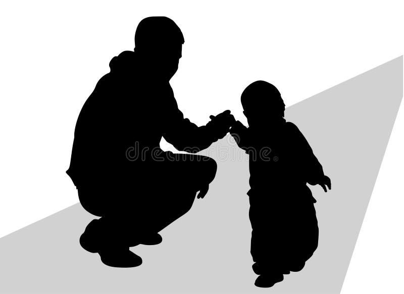 силуэт отца младенца бесплатная иллюстрация