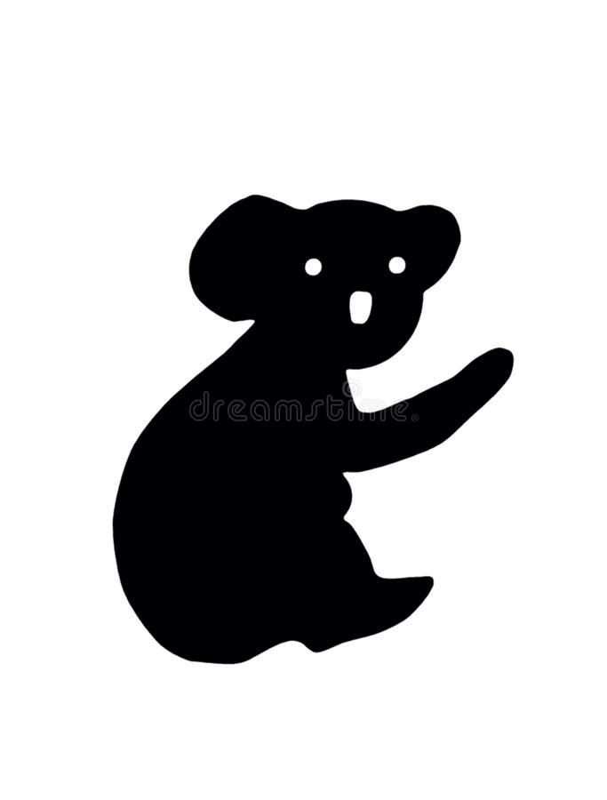 силуэт панды иллюстрация вектора
