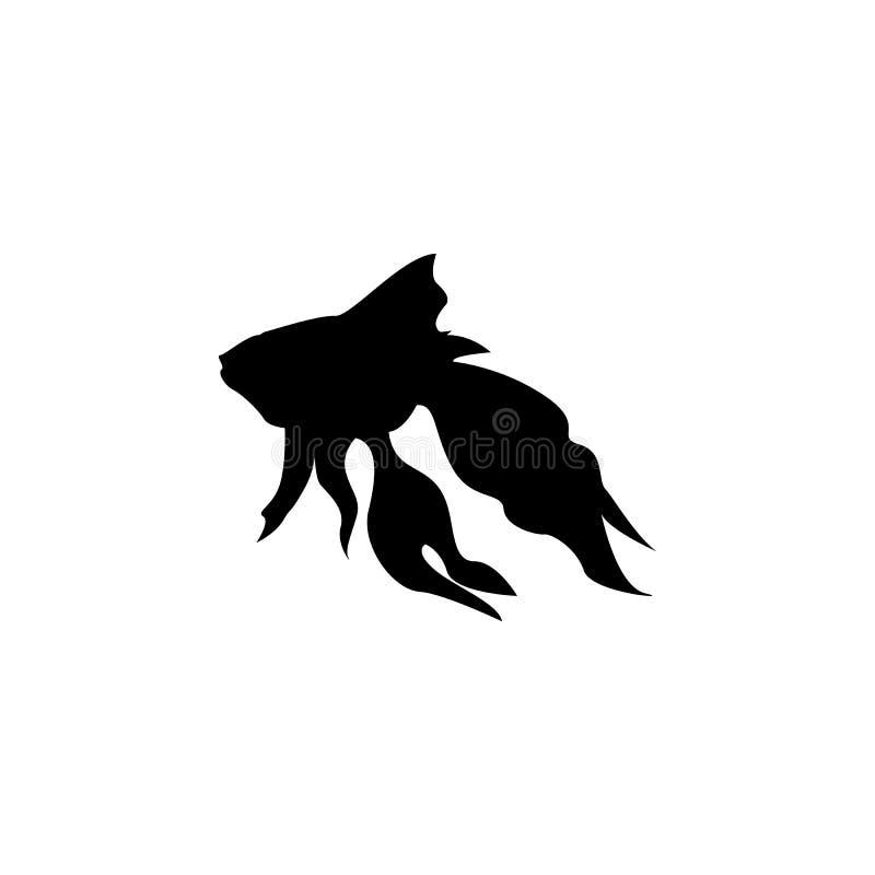 силуэт рыб золота Элемент иллюстрации героев сказки Наградной качественный значок графического дизайна знаки и собрание символов бесплатная иллюстрация