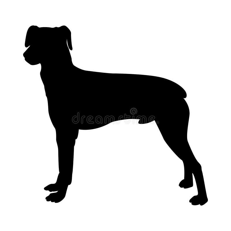 Силуэт собаки Pinscher иллюстрация вектора