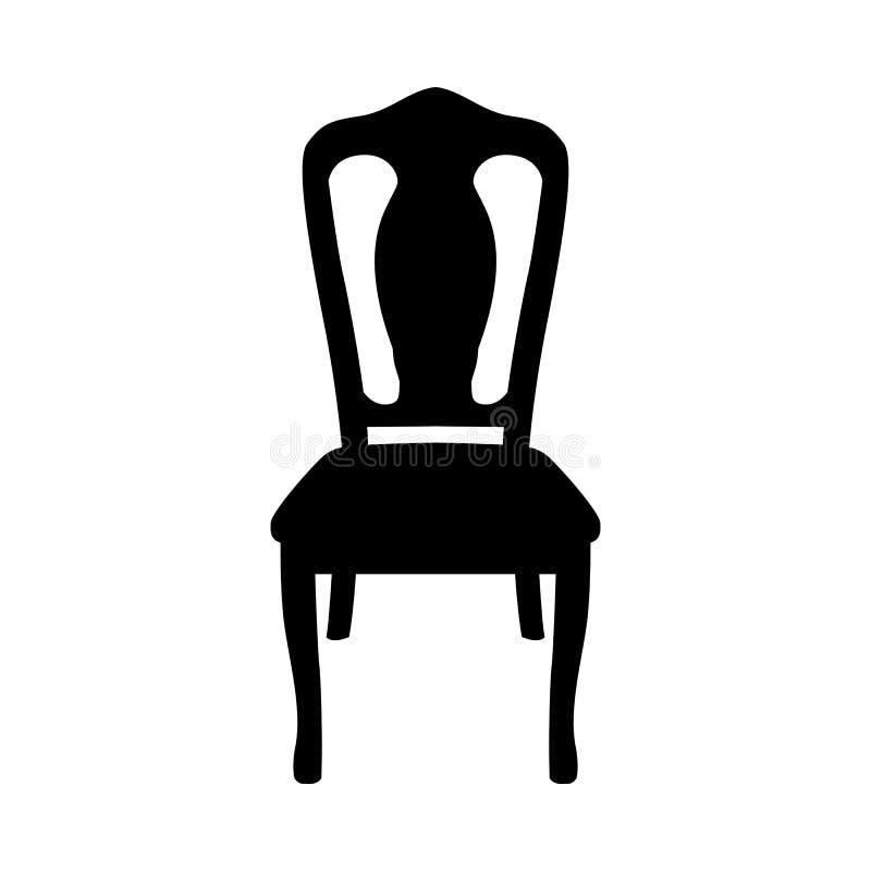 Силуэт стула иллюстрация штока