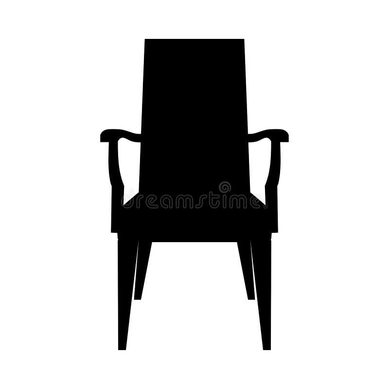 Силуэт стула иллюстрация вектора