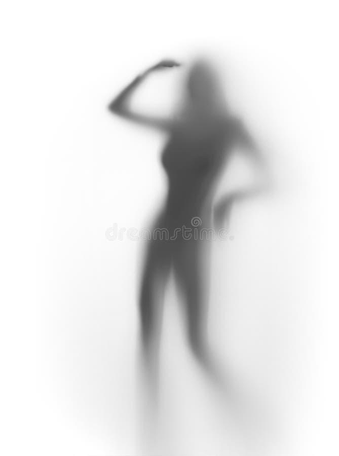 силуэт танцора сексуальный стоковая фотография