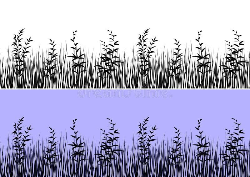 Силуэт травы, безшовный бесплатная иллюстрация