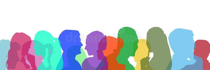 силуэт цвета людей бесплатная иллюстрация