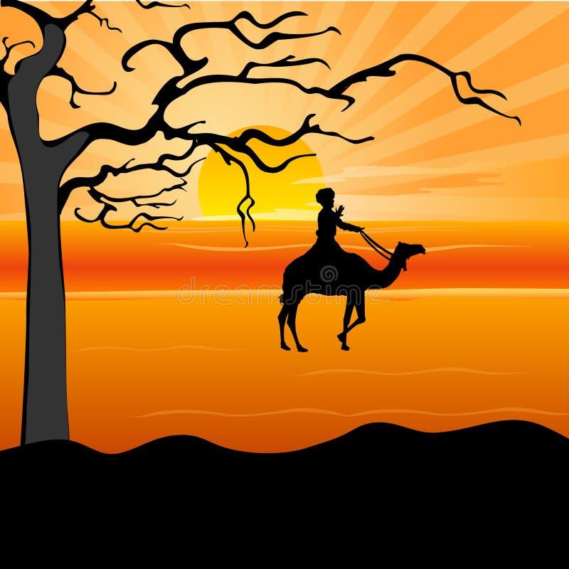 силуэт человека верблюда бесплатная иллюстрация