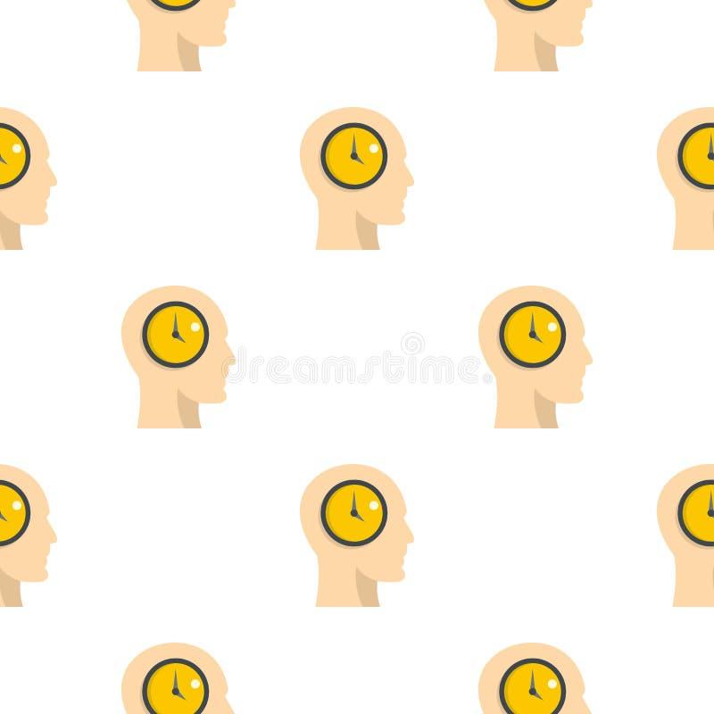 Силуэт человеческой головы с картиной часов бесплатная иллюстрация