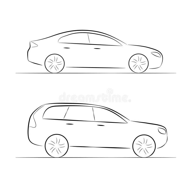 Картинки рисунки легковой семейный автомобиль в профиль