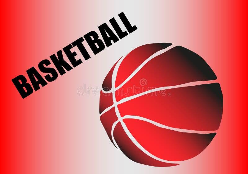 Силуэт шарика баскетбола Точки, линии, треугольники, текст, влияния цвета и предпосылка на отдельных слоях иллюстрация вектора
