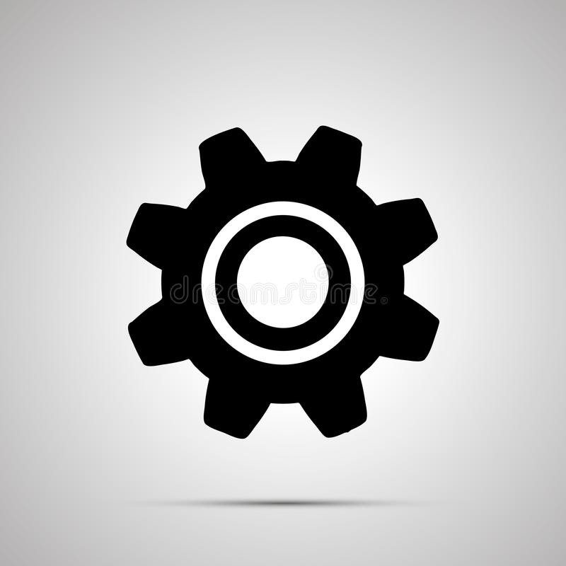 Силуэт шестерни, простой черный значок установок бесплатная иллюстрация