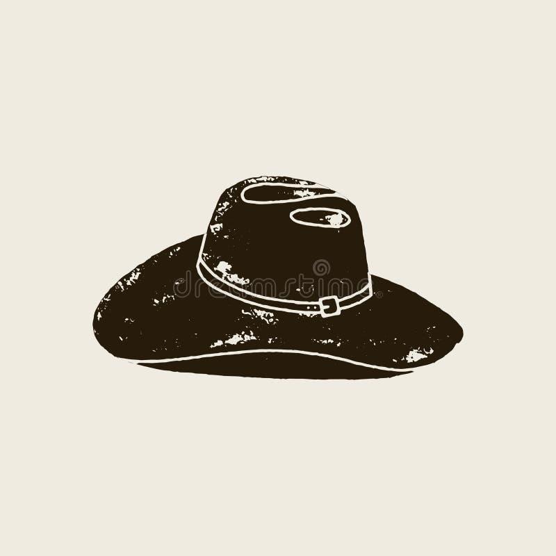 Силуэт шляпы ¡ Ð owboy в винтажном стиле бесплатная иллюстрация