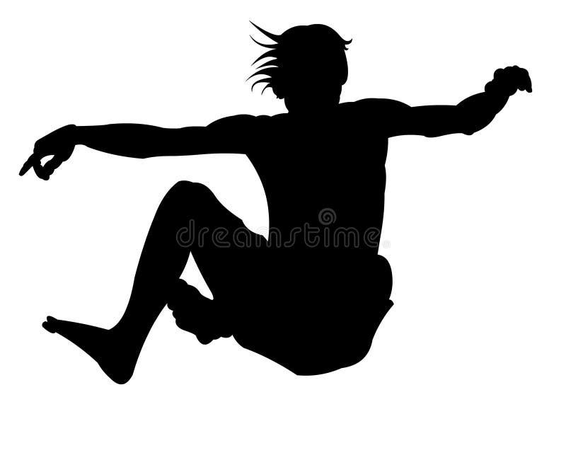 силуэт 3 скачек бесплатная иллюстрация