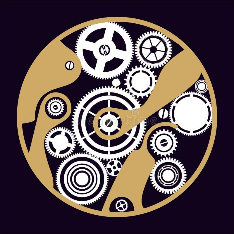силуэт clockwork иллюстрация штока
