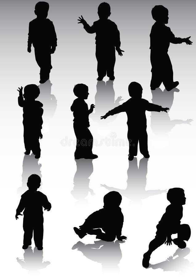 силуэт og childs бесплатная иллюстрация