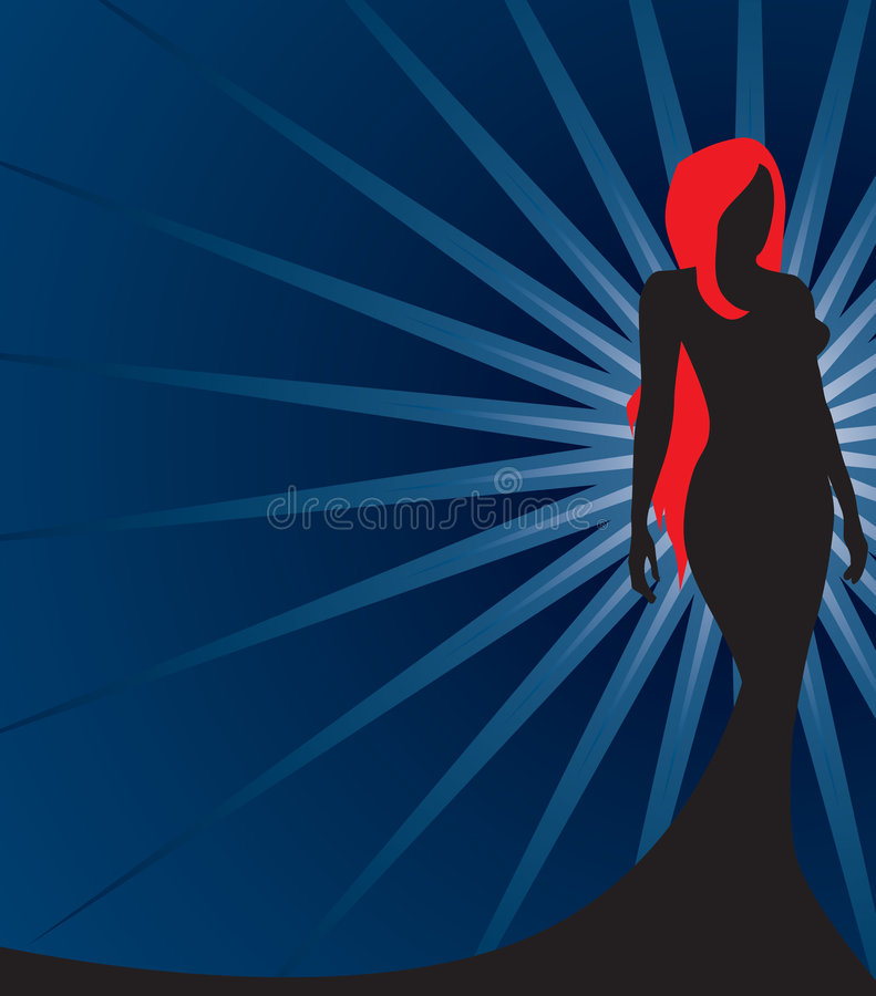 силуэт redhead бесплатная иллюстрация