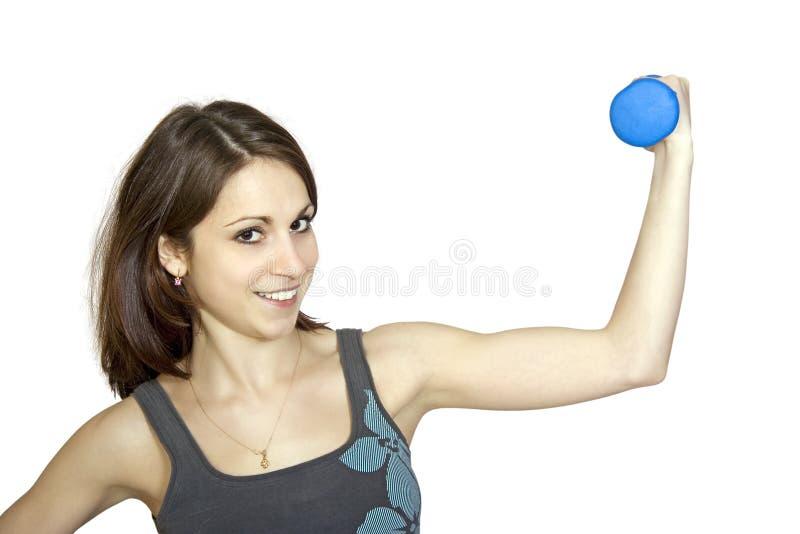 сильная девушки здоровая стоковое фото rf