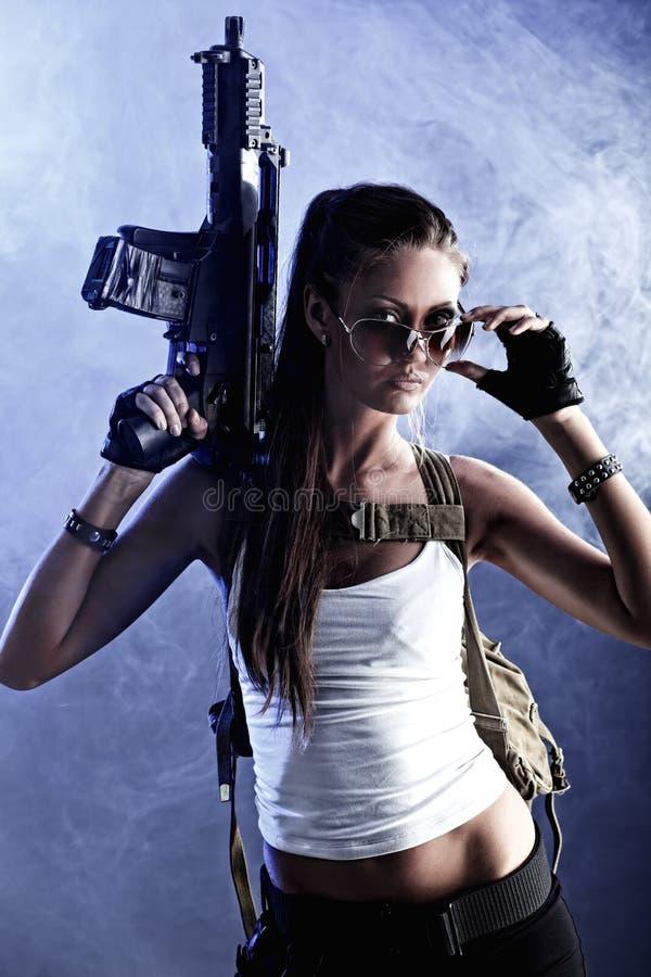 сильная женщина стоковые фото
