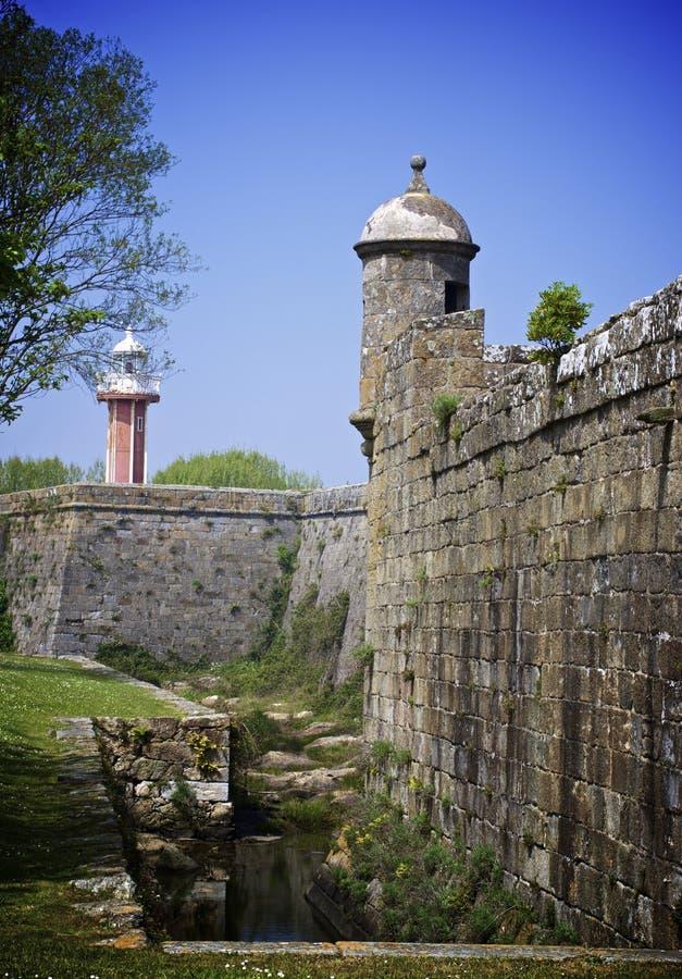 Сильная сторона Сантьяго da Barra, Viana do Castelo, Португалия стоковое изображение