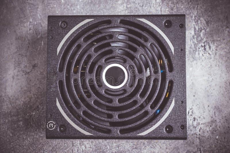 Сильное черное электропитание компьютера PSU стоковое фото rf