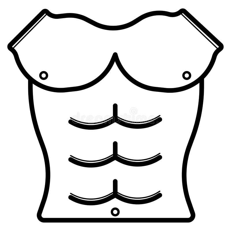 Сильный значок мышцы иллюстрация вектора