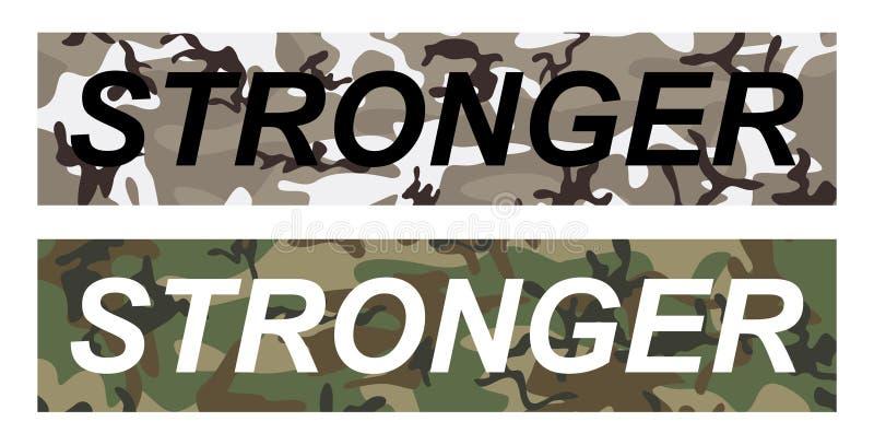 Сильный - лозунг моды на военной предпосылке картины бесплатная иллюстрация
