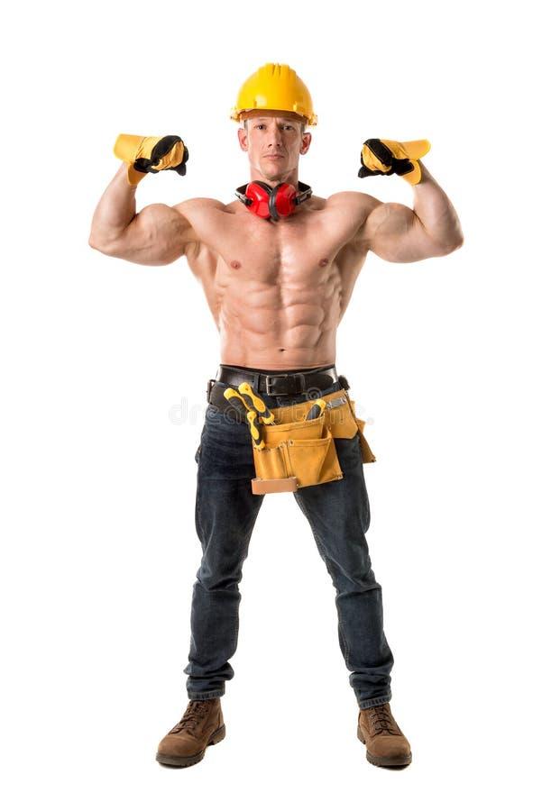 Сильный рабочий-строитель стоковая фотография rf
