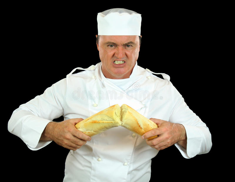 сильный человек шеф-повара стоковая фотография rf
