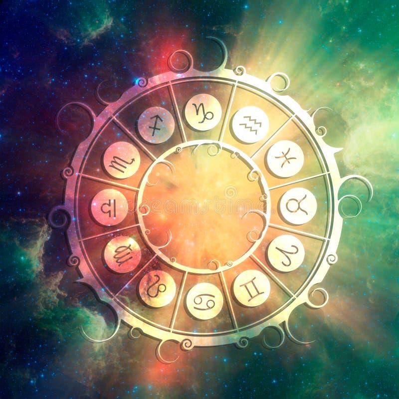 Символы астрологии в круге стоковые фото