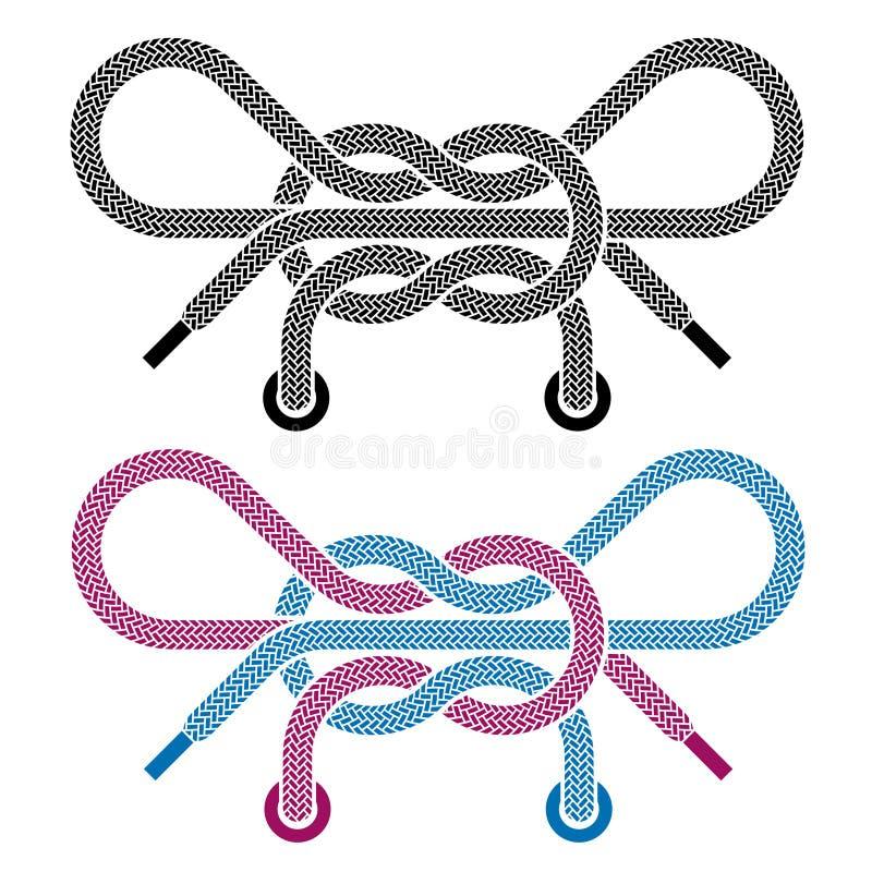 символы ботинка шнурка узла бесплатная иллюстрация