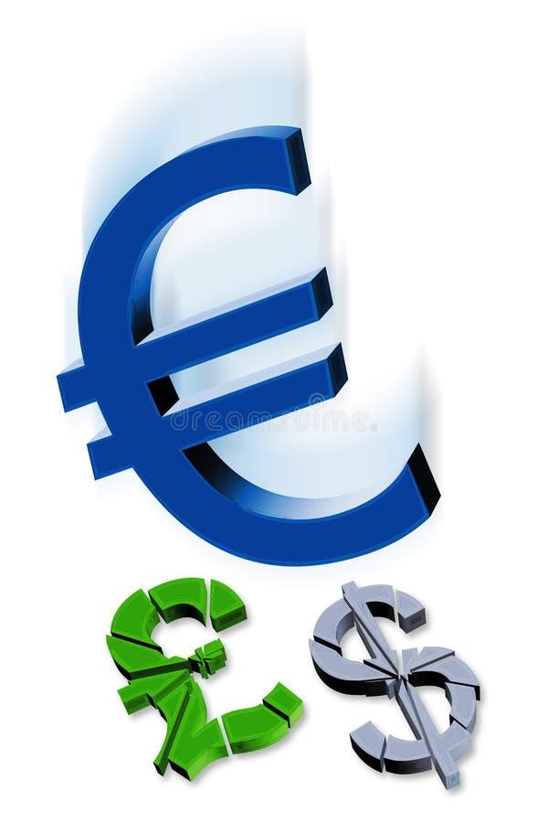 символы валюты иллюстрация штока