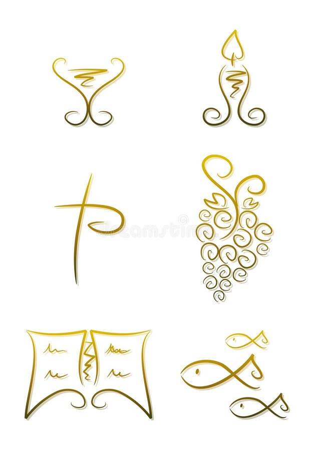 символы вероисповедания христианства иллюстрация вектора