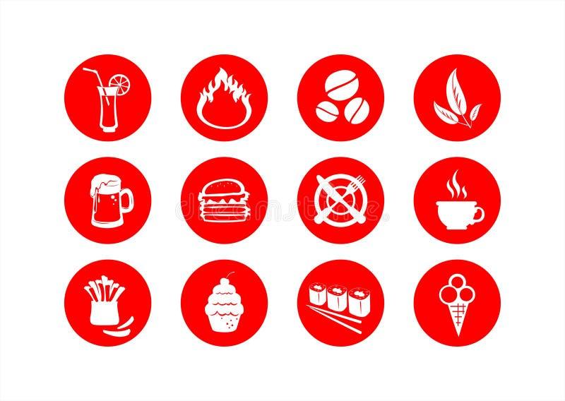 символы еды иллюстрация вектора