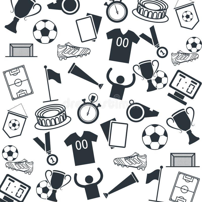 Символы игры футбола иллюстрация вектора