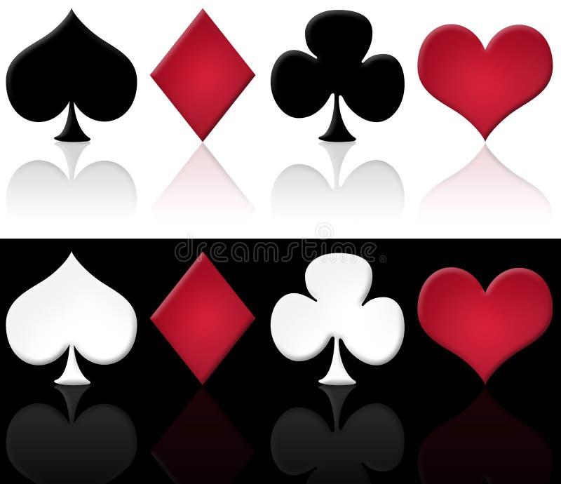 символы карточек установленные иллюстрация вектора