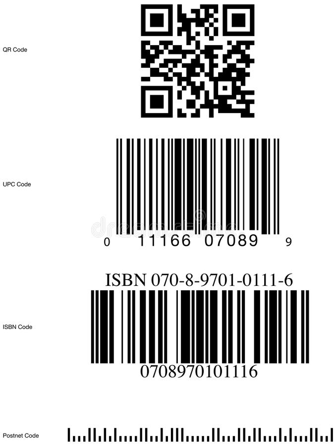 Символы Кода обычного бруса иллюстрация вектора