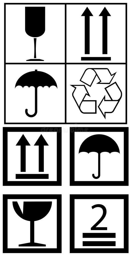 символы коробки упаковывая иллюстрация штока