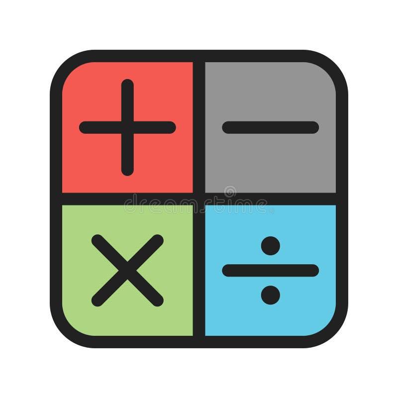 Символы математики i иллюстрация вектора