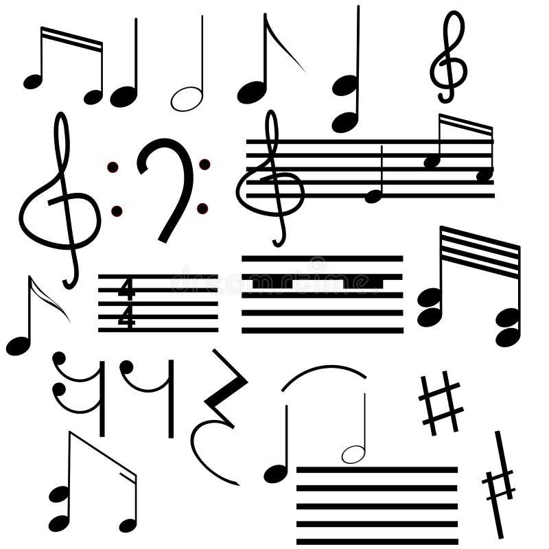 символы мюзикл собрания иллюстрация штока