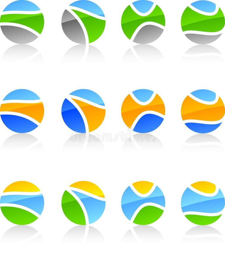 символы природы установленные бесплатная иллюстрация